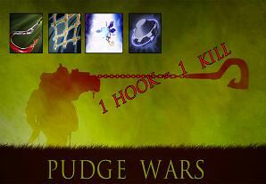 PUDGE WARS(1 hook=1 kill)