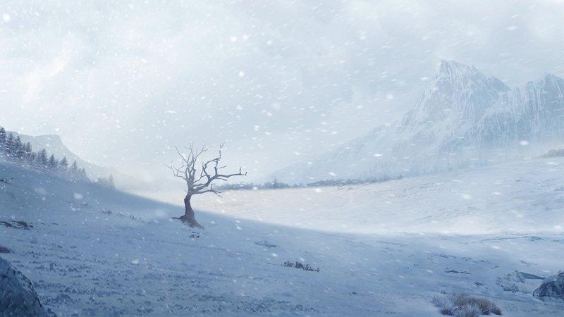 雪鹰领主场景原画第3张