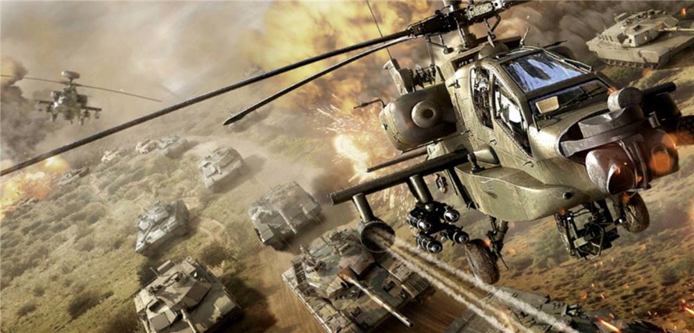 战场与武直的联合作战,这才是钢铁洪流的巅峰对决
